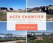 Images du chantier de Ghyvelde sur le programme immobilier de maisons neuves La Roselière